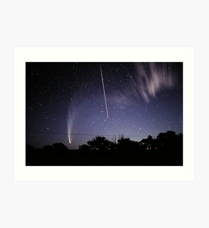 Comet McNaught meets the Space Shuttle Art Print