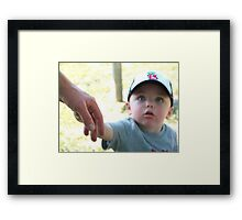 Come . . . follow me! Framed Print
