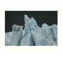 Blue Glaciers Art Print