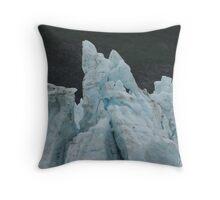 Blue Glaciers Throw Pillow