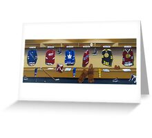nhl original 6 painting Greeting Card