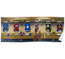 nhl original 6 painting Poster