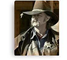 Bygone Time Sheriff Canvas Print