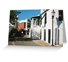 The streets of St. James Greeting Card