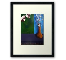 `still` Framed Print