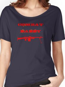 Red Military Combat Daddy Women's Relaxed Fit T-Shirt