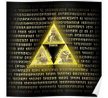 Zelda Triforce Art Logo Poster
