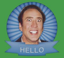 Nicolas Cage - HELLO w/Banner Kids Tee