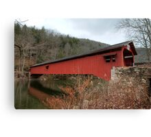 Freshly Rejuvenated Hillsgrove Covered Bridge Canvas Print