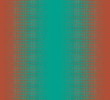 Homescape - Tones 2 in turquoise and rust by Paul Davenport