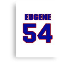 National football player Eugene Amano jersey 54 Canvas Print