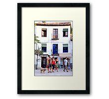 Plaza Santa Maria, Granada Framed Print