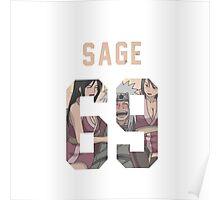 Sage Jiraiya Jersey #69 Poster