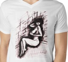 MADAM Mens V-Neck T-Shirt