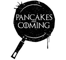 Pancakes Are Coming- Black Version Photographic Print