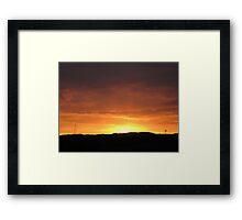 September Sky Framed Print