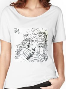 day of the dead octomaid and her pet octopus Women's Relaxed Fit T-Shirt