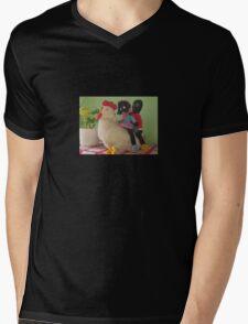 Gollies riding a Chicken Mens V-Neck T-Shirt