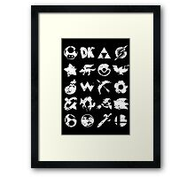 Grunge Smash Framed Print