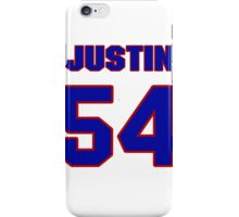 National football player Justin Snow jersey 54 iPhone Case/Skin