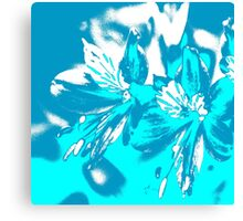 Homescape - blue and white orchid 2 Canvas Print