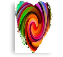 Electric Heart-Available As Art Prints-Mugs,Cases,Duvets,T Shirts,Stickers,etc Canvas Print