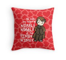 You Make My Heart Go Wibbly Wobbly Throw Pillow