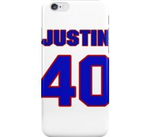 National football player Justin Sandy jersey 40 iPhone Case/Skin