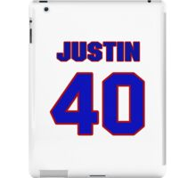 National football player Justin Sandy jersey 40 iPad Case/Skin