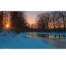 Spiral Sunset Photographic Print