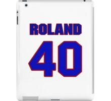 National football player Roland Moss jersey 40 iPad Case/Skin