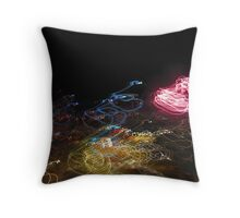 Fireworks in the night sky Throw Pillow