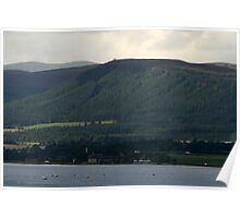 Cromarty Firth, Fyrish Hill, NE Scotland. Poster