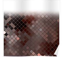 Homescape - Mosaic in earth tones with vignette Poster