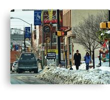 A Snowy Day in Town Canvas Print