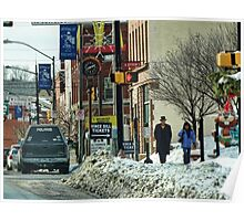 A Snowy Day in Town Poster