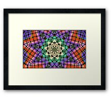 Quilted Star Weave-Available As Art Prints-Mugs,Cases,Duvets,T Shirts,Stickers,etc Framed Print