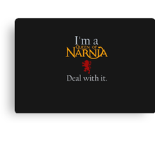 Deal with it: The Chronicles of Narnia Canvas Print