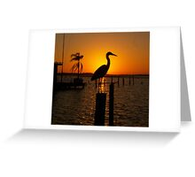 shadow bird Greeting Card