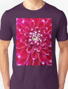 Soft red petals of Dahlia Unisex T-Shirt