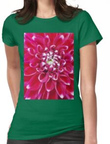 Soft red petals of Dahlia Womens Fitted T-Shirt