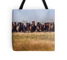 Flight Before the Wild Horses' Charge Tote Bag
