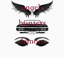 Angels, Hunters, & Demons (Words) Unisex T-Shirt