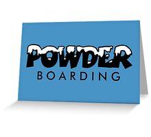Powder Boarding Greeting Card