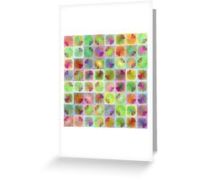 Four citrus fruits pattern Greeting Card