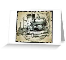 Rusty car drawing Greeting Card