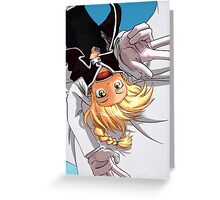 Edward Elric Flying Monkey Greeting Card