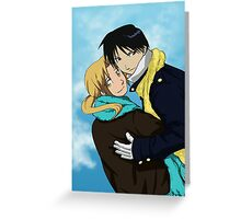 Edward Elric and Roy Mustang Greeting Card