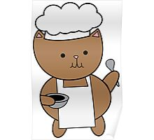 Chef Cat Kitty Poster