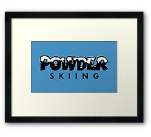 Powder Skiing Framed Print